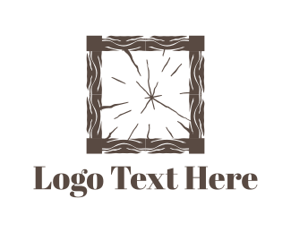 Frame - Wood Square logo design