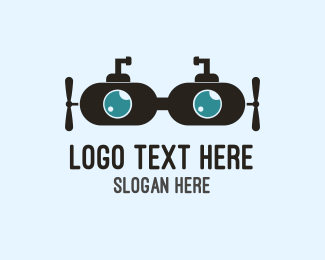 Optometrist - Submarine Goggles  logo design