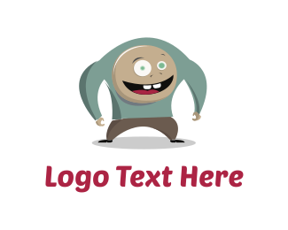 Crazy - Big Happy Man logo design