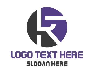 Manufacturing - Black Blue Tech R logo design