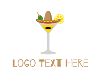Mariachi - Mexican Cocktail logo design