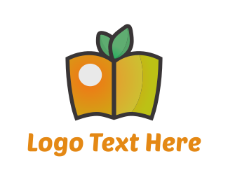 Snack - Fruit Book logo design