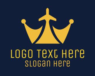 Airport - Royal Plane logo design