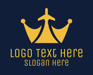 Tiara - Royal Plane logo design