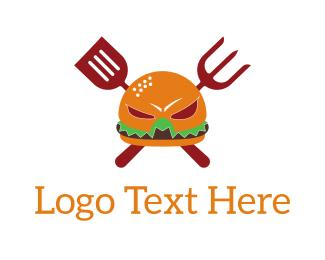 Barbeque - Burger Hero logo design