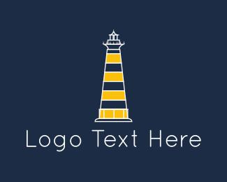 Lighthouse - Yellow Lighthouse logo design