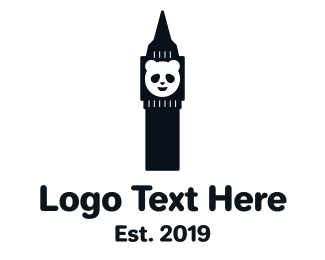 Panda - Panda Tower logo design