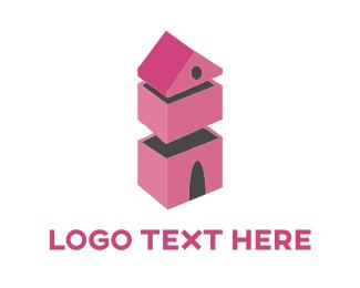 Residence - Pink House logo design