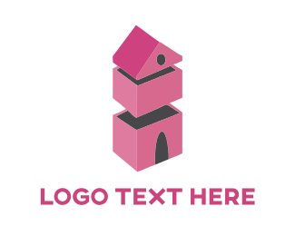 Domestic - Pink House logo design