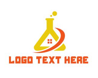 Flask - Lab House logo design