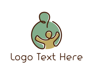 Parent - Caring Hug logo design