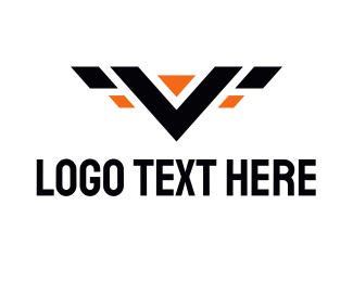Construction - V Wings logo design
