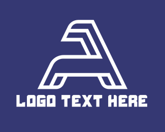 Esports - Minimalist White Letter A logo design