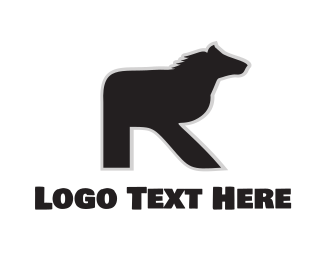 Farm Animal - Equine Letter R logo design