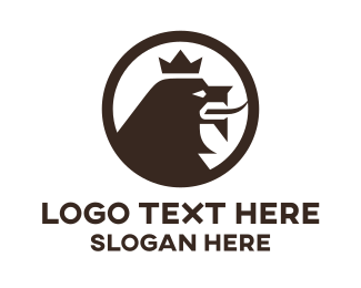 Service - Brown Lion King logo design