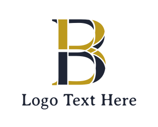 Consultancy - Gold Blue B logo design