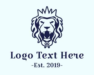 Glasgow - Royal Blue Lion logo design