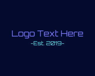 Entertainment Industry - Neon Technology logo design