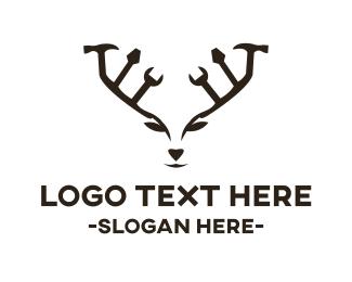 Carpentry - Deer Tools  logo design