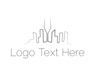 Bar - Wine City logo design