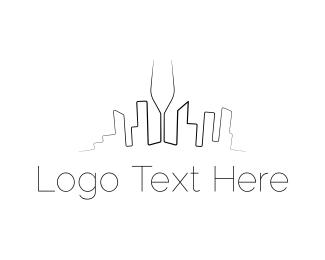 Skyline - Wine City logo design