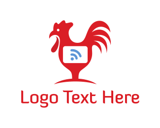 World Wide Web - Rooster Wifi  logo design