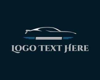Vehicle - Silver Car logo design