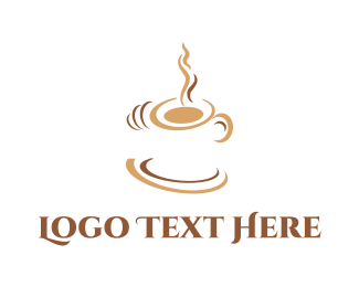 Espresso - White Coffee Cup logo design