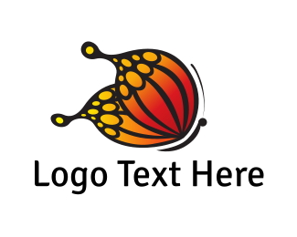 Insect - Monarch Butterfly logo design