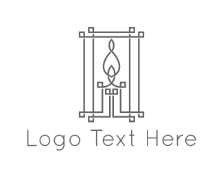 Candle Outline logo design