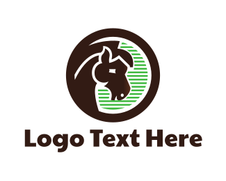 Jockey - Brown Horse logo design