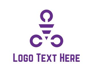 Gym - Purple Triangle logo design