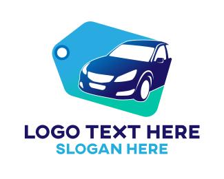 Tag - Blue Car Tag logo design