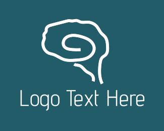 Mind - Brain Outline logo design