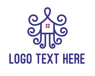 Violet - Violet House Ornament logo design