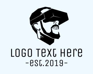 Electronics - Virtual Reality Glasses logo design