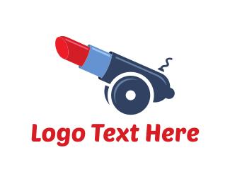 Lipstick - Artillery Lipstick logo design