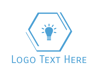 Bright - Blue Lamp logo design