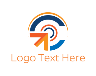 Export - Click Button logo design