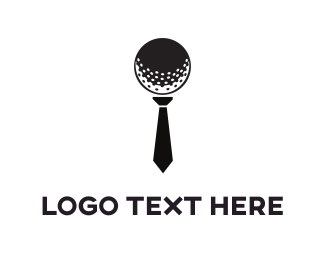 Golfer - Golf Tie logo design