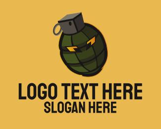 Weapon - Grenade Mascot logo design