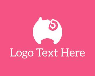 Bank - Pig Tail Money logo design