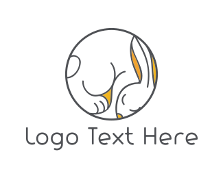 Hare - Sleepy Bunny logo design