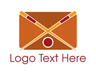Noodle - Sushi Mail App logo design
