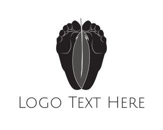 Foot - Feet & Feather logo design