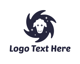 Sheep - Star Sheep logo design