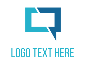 Chatter - Blue Chat logo design