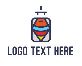 Voyage - Spin & Luggage logo design