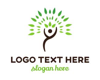 Therapeutic - Human Tree logo design