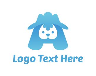 Lamb - Blue Lamb logo design
